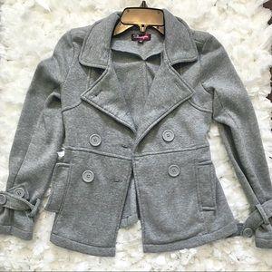 Kids Grey Pea Coat